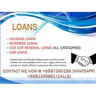 EXCLUSIVE CAR LOANS, COE LOANS (ALL CATERGORIES INC), LOANS