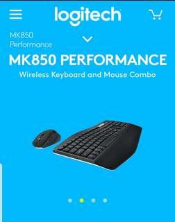 Logitech MK850 Logi Flow Multi Device Keyboard and Mouse bundle
