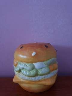 Porcelain Hamburger Money Bank