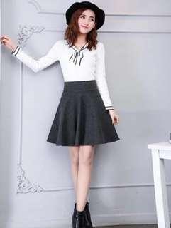 🚚 全新 深灰色細織褲裙(秋冬材質)#女裝半價拉