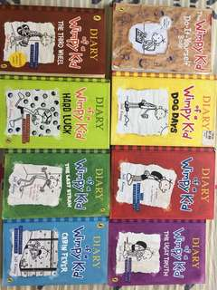 8 Wimpy kid books for 25