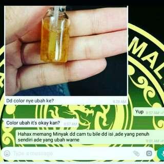 Feedback minyak pelet ubah warne (minyak hidup)