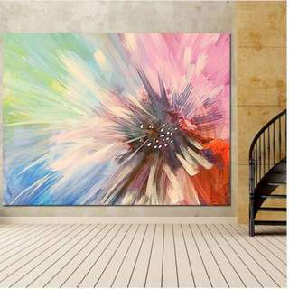 🚚 Blooming Flower Oil Painting on Canvas 100x70cm