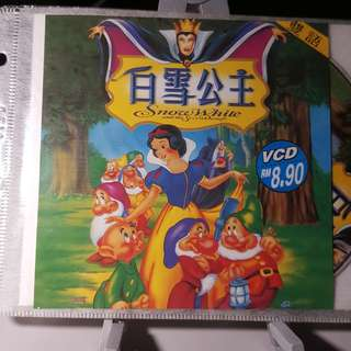 VCD - SNOW WHITE AND THE SEVEN DWARFS (1937) disney animation family NOT cinderella snow white sleeping beauty