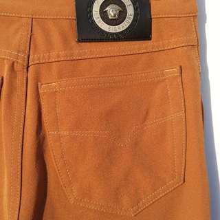 3a94ce54c959 Vintage 90s Nineties VERSACE Brown Pants Authentic Made in Italty. Medusa  Head Logo.