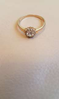 14K金鑽石介子圈口2cm