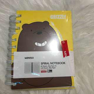 Miniso We Bare Bear Notebook
