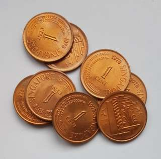 1st series 1978 1 cts coins.