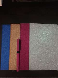 Glitter Notebook Fancy Notebook Cute Notebook
