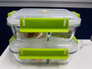 Tedemei Glassware  Bento Containers Set of 2