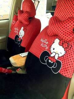Hello Kitty Car Seat Cover (Polka Dot) RED