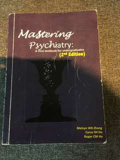 Mastering Psychiatry 2nd edition by Melvyn zhang