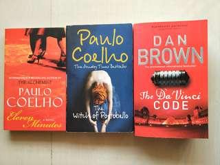 Dan Brown and Paulo Coelho