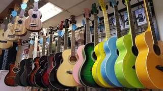 Guitars & Ukulele display sets sale!