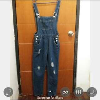 Celana kodok jeans / overall jeans