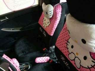 Hello Kitty Car Seat Cover (Polka Dot) PINK