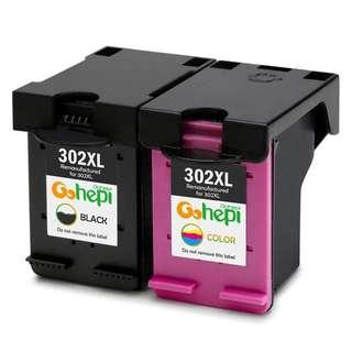 (E111) Gohepi Remanufactured HP 302XL 302 Ink Cartridges