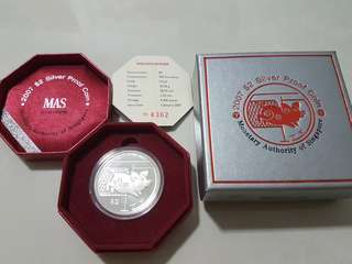 2007 lunar year of boar silver proof coin