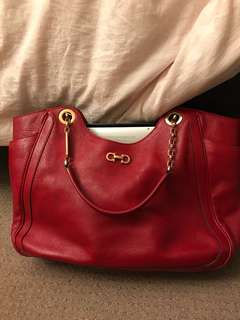 Salvatore Ferragamo hand bag in red