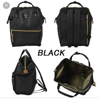 Genuine Anello Backpack in Black