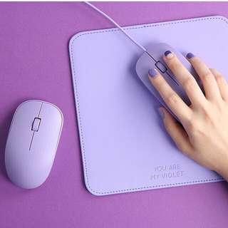 紫色系有線/無線滑鼠/墊