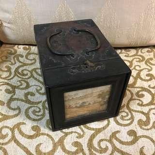 🚚 老東西 古董 梳妝盒 珠寶箱