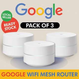 [IN-STOCK] Google WiFi system, 3-Pack - Router replacement for whole home coverage (US Set)