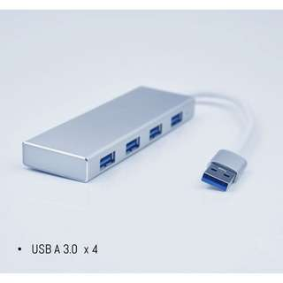 ⭐️USB-A single to four x USB3.0 ports dongle