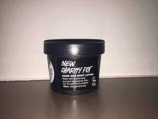 LUSH cosmetics charity pot hand & body lotion