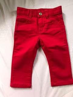 benetton red pants