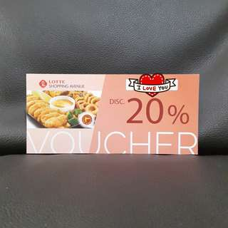 F&B @ Lotte Shopping Avenue Dining Discount Voucher