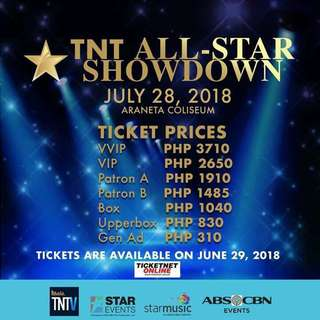 LOOKING FOR: TNT ALL STAR CONCERT TICKETS FOR 2