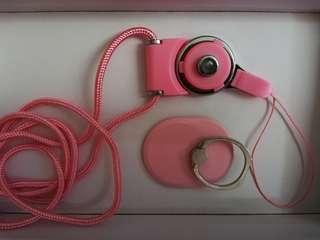 全新*電話繩 + 支架防滑手環*