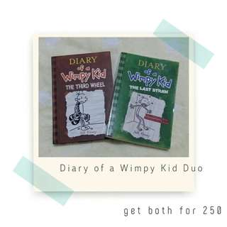 Rush Sale! Diary of a Wimpy Kid Duo