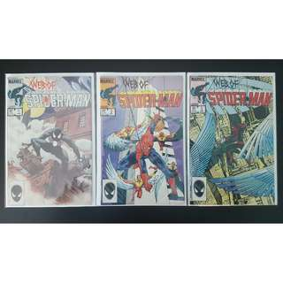 Web of Spider-Man #1, #2, #3 (1985, 1st Series)-Complte Set Of 3, RETROLICIOUS!
