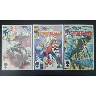 Web of Spider-Man #1, #2, #3 (1985, 1st Series)-Complete Set Of 3, RETROLICIOUS!