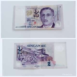 $2 note 338888