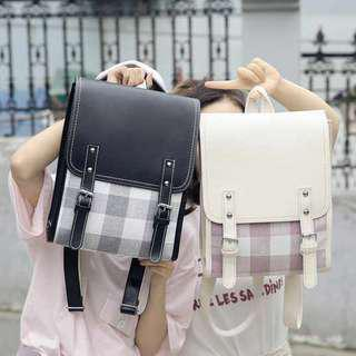 81ca3d5828c Japanese Backpack Plaid School Girl Bag japan korean Bagpack ulzzang boxy  square flap fashionable trendy stylish