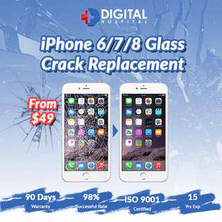 iPhone 6/7/8 Glass Crack Replacement