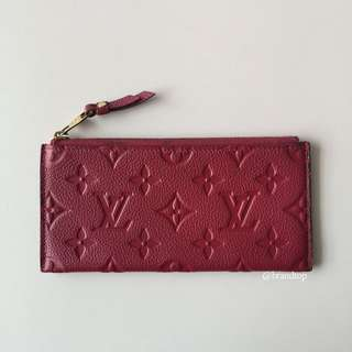 Authentic Louis Vuitton Empreinte Leather Zip Pouch LV