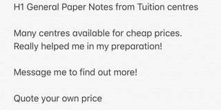 H1 GP Tuition Notes