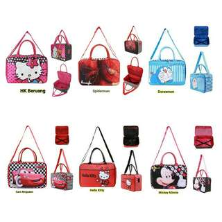 Tas travel motif kartun
