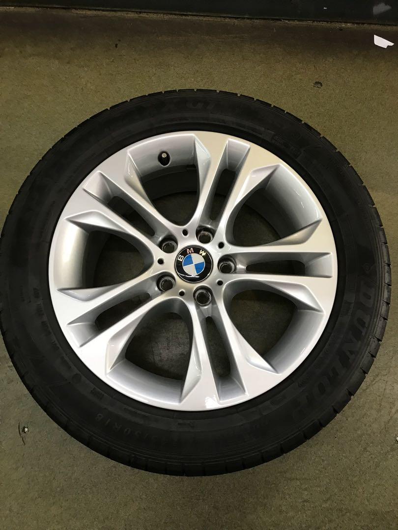 18 5x120 Bmw Used Rim With 2455018 Tyre 1 Set 550 Car Accessories Okuyama Carbing Dash Foot Rest Photo