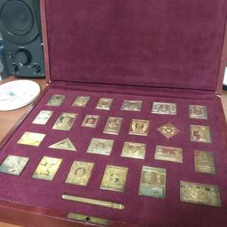 Gold Plated Silver (.925) British Empire Collection Stamps