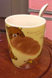 5隻輕鬆小熊淘瓷杯連匙羹