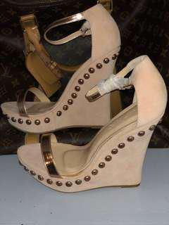 USA Branded Wedge Sandals