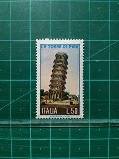 [均一價$10]1973 意大利 比薩斜塔始建八百週年紀念 新票一套