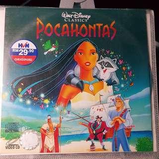 VCD - POCAHONTAS (1995) disney animation adventure drama