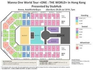 Wanna one 演唱會 28/7 29/7 980 580坐位