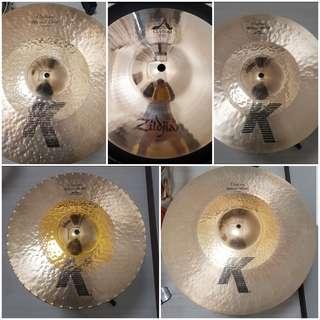 Zildjian Cymbal set/Individual